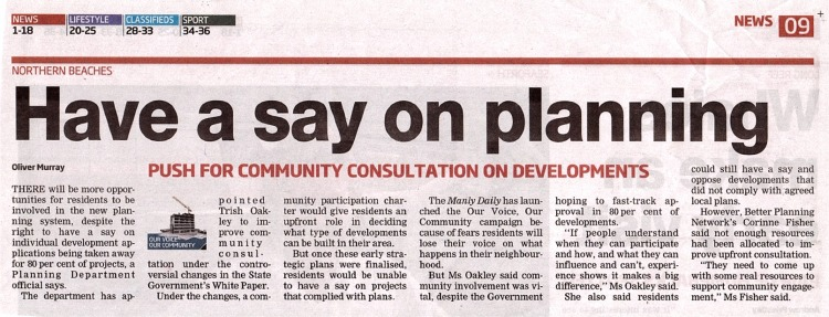 MD Have a say on planning