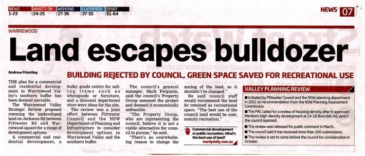 MD Land escapes bulldozer