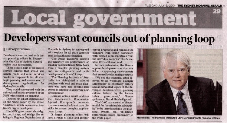 SMH Developers want councils out of planning loop